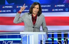 Sen. Kamala Harris participates in a debate. (Photo credit: SAUL LOEB/AFP via Getty Images)