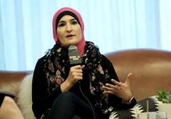 Linda Sarsour speaks onstage at Mothers of the Resistance: Women Leading the Movement during the 2019 SXSW Conference and Festivals at JW Marriott Austin on March 11, 2019 in Austin, Tex. (Photo credit: Rita Quinn/Getty Images for SXSW)