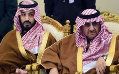 A Dec. 2015 photo of Mohammed bin Salman, left, and the rival he would soon replace as Saudi Arabia's crown prince, Mohammed bin Nayef. (Photo by Fayez Nureldine/AFP via Getty Images)