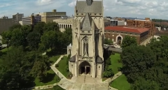 Featured is an aerial view of the University of Pittsburgh. (Photo credit: YouTube/Pitt LiveWire)