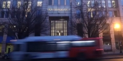 Featured is the outside of a Washington Post bureau. (Photo credit: YouTube/Wash Post Life)