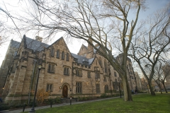 Featured is Calhoun College, a part of Yale University built in 1933, in collegiate gothic style architecture. (Photo credit: Kathryn Donohew Photography/Contributor/Getty Images)