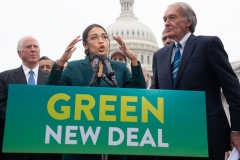 Representative Alexandria Ocasio-Cortez (D-N.Y.) announced her Green New Deal plan on February 7, 2019. (Photo by SAUL LOEB/AFP via Getty Images)