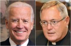 """""""Catholic"""" Joe Biden and Bishop Thomas Tobin (Getty Images)"""
