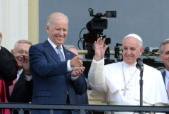 Vice President Joe Biden and Pope Francis at the U.S. Capitol, Sept. 24, 2016. (Photo by Fred Watkins/Walt Disney Television via Getty Images)