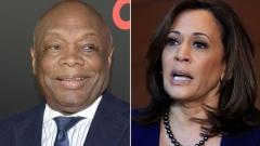Willie Brown (D), left, and Sen. Kamala Harris (D-Calif.)  (Getty Images)