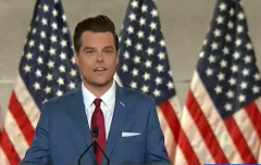 Rep. Matt Gaetz (R-Fla.) speaks on the first night of the Republican National Convention. (Photo: Screen Capture)