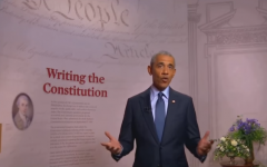 "Former President Barack Obama addresses the Democrats from Philadelphia, ""where our Constitution was drafted and signed. "" (Photo: Screen capture)"