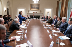 Speaker Pelosi in the Cabinet Room, Oct. 16, 2019. (Photo by Shealah Craighead/The White House via Getty Images)