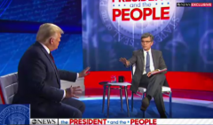 President Trump participated in an ABC town hall hosted by George Stephanopoulos on Sept. 15, 2020. (Photo: Screen capture)