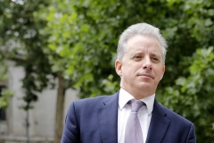 Former UK intelligence officer Christopher Steele arrives at the High Court in London on July 24, 2020, to attend his defamation trial brought by Russian tech entrepreneur Alexej Gubarev. (Photo credit: TOLGA AKMEN/AFP via Getty Images)