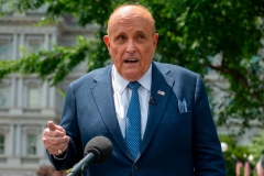 Rudy Giuliani, attorney for US President Donald Trump, speaks at the White House in Washington, DC, on July 1, 2020. (Photo by JIM WATSON/AFP via Getty Images)