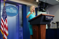 White House Press Secretary Kayleigh McEnany speaks during a briefing in the Brady Briefing Room of the White House in Washington, DC on September 16, 2020. (Photo by MANDEL NGAN/AFP via Getty Images)