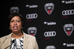 Mayor of the District of Columbia Muriel Bowser speaks during a press conference to introduce Wayne Rooney #9 of DC United (not pictured) at The Newseum. (Photo credit: Patrick McDermott/Getty Images)