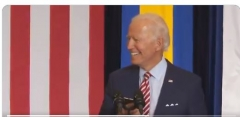 "Joe Biden plays ""Despacito"" from his phone at campaign event in Florida, Sept. 15, 2020. (Twitter)"
