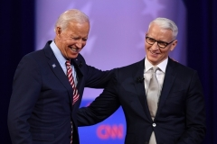 Democrat Joe Biden has joined several CNN town halls moderated by CNN's Anderson Cooper. (Photo by ROBYN BECK/AFP via Getty Images)