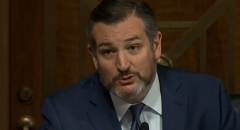 """Sen. Ted Cruz (R-Texas) is out with a new book titled """"One Vote Away: How a Single Supreme Court Seat Can Change History."""" (Photo: Screen capture)"""