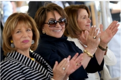 Rep. Jackie Speier, Rep. Anna Eshoo and House Speaker Nancy Pelosi. (Photo by MediaNews Group/Bay Area News via Getty Images)