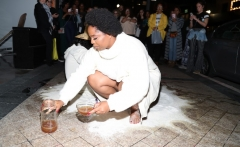 Black Lives Matter co-founder Patrisse Cullors and performance art. (Getty Images)