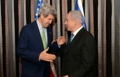 Then-Secretary of State John Kerry meets with Israeli Prime Minister Binyamin Netanyahu in March 2013. (Photo: State Department)