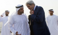 Then-Secretary of State John Kerry visits the United Arab Emirates in June 2016. (Photo by Saul Loeb/AFP via Getty Images)