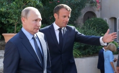 French President Emmanuel Macron and Russian President Vladimir Putin. (File photo: The Kremlin)