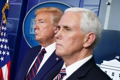 President Donald Trump and Vice President Mike Pence at the White House. (Photo by MANDEL NGAN/AFP via Getty Images)