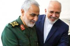 Foreign Minister Javad Zarif with Qods Force commander Major-General Qassem Soleimani. (Photo: IRNA)