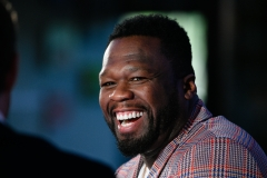 "Curtis ""50 Cent"" Jackson visits ""Extra"" at Burbank Studios. (Photo credit: Noel Vasquez/Getty Images)"