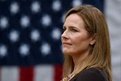 Justice Amy Coney Barrett was confirmed to the Supreme Court on Oct. 26, 2020. (Photo credit: OLIVIER DOULIERY/AFP via Getty Images)