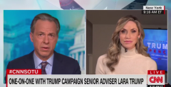 CNN's Jake Tapper loses his temper with Lara Bush, the president's daughter-in-law. (Photo: Screen capture)