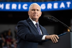 Vice President Mike Pence gives a speech. (Photo credit: SAUL LOEB/AFP via Getty Images)