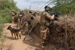 A French soldier works with African counterparts as part of Operation Barkhane, an anti-jihadist mission launched in five Sahel countries in 2013. (Photo: French Ministry of Defense)