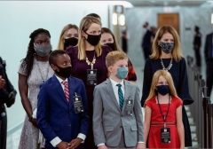 The children and family of Amy Coney Barrett arriving at her Senate Judiciary Committee confirmation hearing, Oct. 12, 2020. (Photo by Drew Angerer/Getty Images)