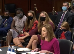 Amy Coney Barrett at her confirmation hearing, Oct. 12, 2020. (Screen Capture)