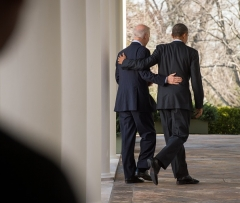 President Barack Obama and Vice President Joe Biden at the White House on April 1, 2014. (Photo by Ken Cedeno/Corbis via Getty Images)