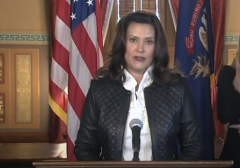 Michigan Gov. Gretchen Whitmer discusses the plot against her at an Oct. 8 news conference. (Photo: Screen shot)