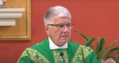 Fr. Ed Meeks, pastor of Christ the King Catholic church in Towson, Md. (Screenshot)
