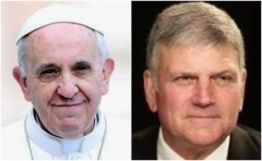 Pope Francis and Rev. Franklin Graham. (Screenshots)