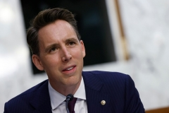 Sen. Josh Hawley (R-Mo.) is demanding answers from Twitter and Facebook after they blocked users from sharing a New York Post story about the Bidens and Burisma. (Photo by SAMUEL CORUM/POOL/AFP via Getty Images)