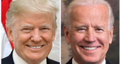 President Donald Trump, left, and former Vice President Joe Biden. (Getty Images)