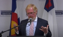 Media Research Center Founder and President Brent Bozell discusses fighting media bias. (Photo credit: YouTube/Centennial Institute)