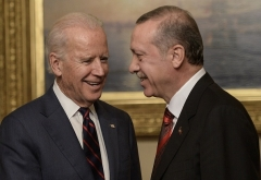 Vice President Joe Biden meets with Turkish President Recep Tayyip Erdogan in Istanbul in 2014. (Photo by Bulent Kilic/AFP via Getty Images)