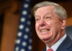 Senate Judiciary Committee Chairman Lindsey Graham, R-SC, speaks during a press conference on US Attorney General William Barr's summary of the Mueller report at the US Capitol in Washington, DC on March 25, 2019. (Photo by MANDEL NGAN/AFP via Getty Images)