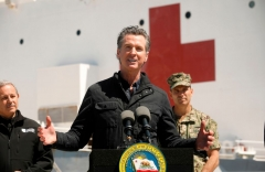 California Governor Gavin Newsom (Photo by CAROLYN COLE/POOL/AFP via Getty Images)