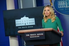White House Press Secretary Kayleigh McEnany speaks during a press briefing on November 20, 2020, in the Brady Briefing Room of the White House in Washington, DC. (Photo by MANDEL NGAN/AFP via Getty Images)