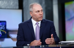 "House of Representatives Majority Whip and U.S. Rep. Steve Scalise visits ""Mornings With Maria"" at Fox Business Network Studios on June 5, 2018 in New York City. (Photo by John Lamparski/Getty Images)"