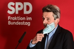 Germany's SPD party parliamentary group leader Rolf Muetzenich. (Photo by John MacDougall/AFP via Getty Images)