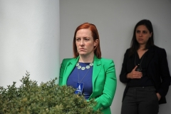 Jen Psaki, seen here during her stint as White House communications director in 2015, has been named as White House press secretary in a Biden administration. (Photo by Nicholas Kamm/AFP via Getty Images)