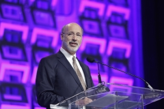Pennsylvania Gov. Tom Wolf speaks on stage during Pennsylvania Conference For Women at Pennsylvania Convention Center. (Photo credit: Marla Aufmuth/Getty Images for Pennsylvania Conference for Women)